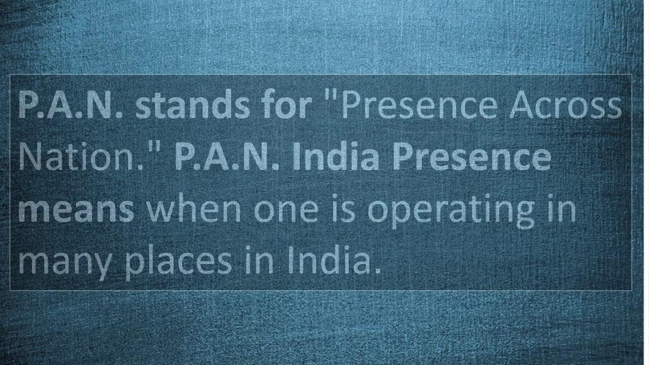 PAN India Meaning